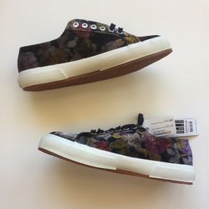 NWT Superga Velvet Floral Sneakers